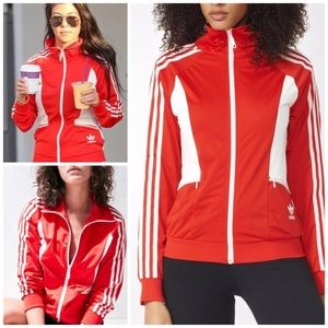 Adidas Track Jacket Sandra 1977 Red Trefoil Small